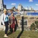Tiina ja Sirle Slite sadamas